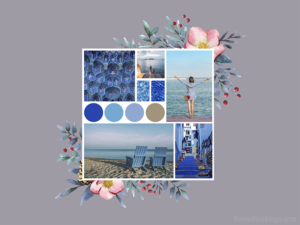 A mood board for a summer fashion collection that's all about the sea and relaxation.