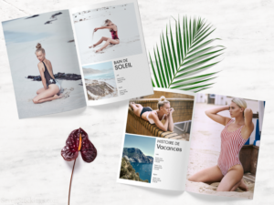 An example of a lookbook for a swimwear brand.