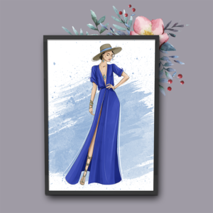 Fashion drawings capture so much romance. We are always excited to work on these for our clients.
